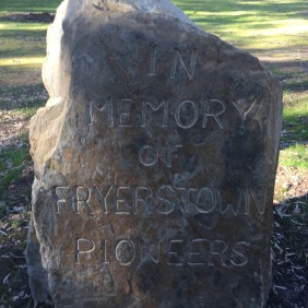 In memory of Fryerstown Pioneers