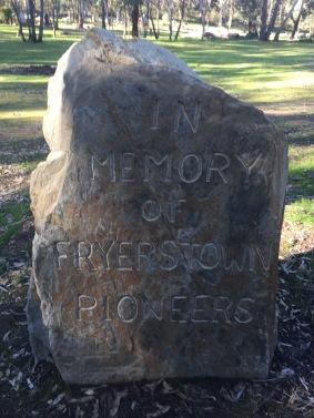 In memory of Fryerstown Pioneers