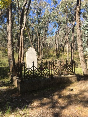 The grave of Elizabeth Escott and her daughter Fanny lies in bushland on the east side of the road to Fryerstown. When Elizabeth's husband died, she left England with her eleven children to make a new life in Australia. She was one of many who were beaten by the hardships of life on the diggings. Fanny was sixteen when she died of consumption at Blacksmith's Gully in 1856, and Elizabeth died six months later. Another daughter, Mary, had died in 1855.