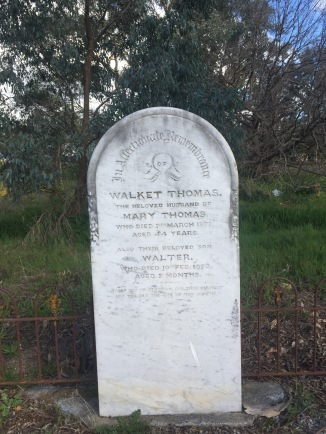 Walket and Mary buried with their infant son