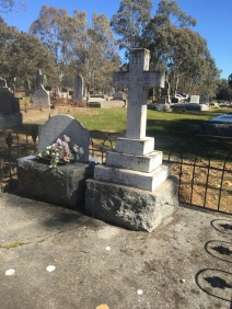 A moving family monument at Sandon, Victoria. Parents buried alongside children who pre-deceased them.