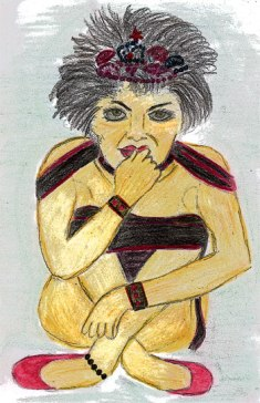 Self Portrait - Angry Pixie