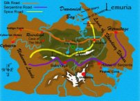 Lemuria as mapped by Lori Gloyd