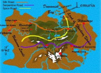 Lemuria as mapped by Lori Gloyd