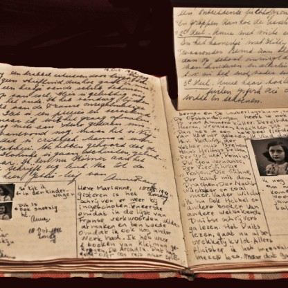 the-diary-of-anne-frank-found-in-the-collection-of-anne-frank-house-museum-amsterdamfine-art-imagesheritage-imagesgetty-images